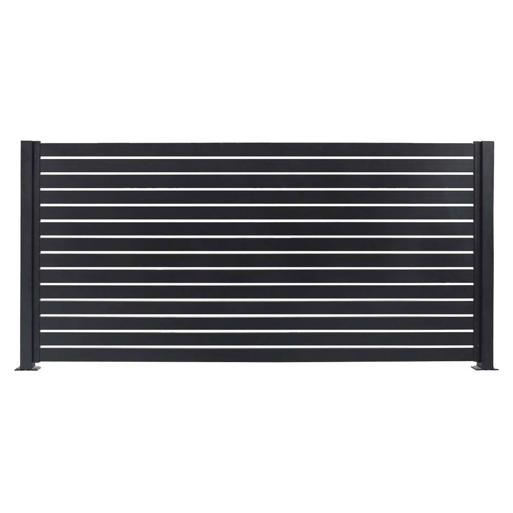horizontal-slat-fencing-panel-black