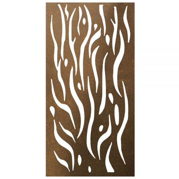 Privacy Screen Wall Art Panel | 4' x 2' | Kelp Design with Rustic Look