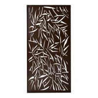 Privacy Screen Wall Art Panel | 4' x 2' | Jungle Design with Rustic Look