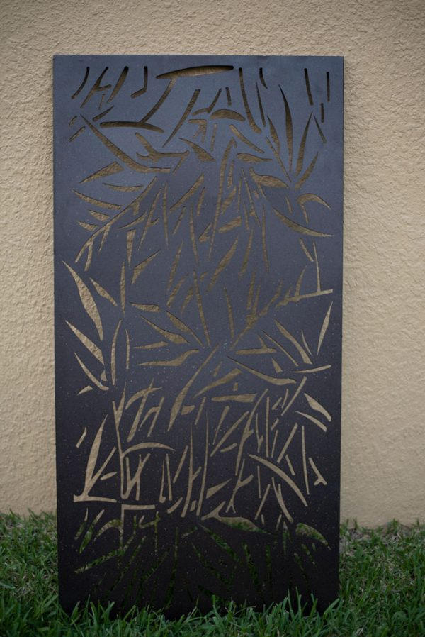 Privacy Screen Wall Art Panel   6' x 3'   Pack of 2 Panels   Jungle Design with Rustic Look
