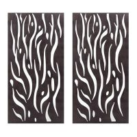 Privacy Screen Wall Art Panel | 6' x 3' | Set of 2 Panels | Kelp Design with Rustic Look