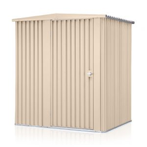 HM2-Hinged-Beige-Garden Shed
